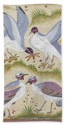 India: Pheasants Bath Towel