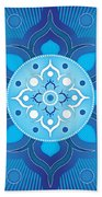 Inner Guidance - Blue Version Bath Towel