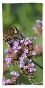 Insect And Flower Bath Towel