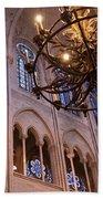 Interior Notre Dame Cathedral Bath Towel