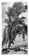 Iowa: Council Bluffs, 1855 Bath Towel