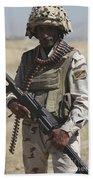 Iraqi Army Soldier Bath Towel