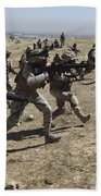 Iraqi Army Soldiers Move To Positions Bath Towel