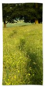Ireland Trail Through Buttercup Meadow Bath Towel