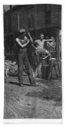 Iron Workers, 1884 Bath Towel
