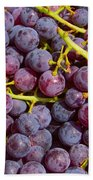 Italian Red Grape Bunch Bath Towel
