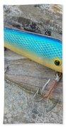 J And J Flop Tail Vintage Saltwater Fishing Lure - Blue Bath Towel