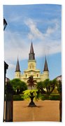 Jackson Square In New Orleans Bath Towel