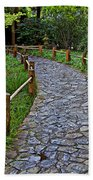 Japanese Tea Garden Path Bath Towel