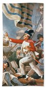 John Paul Jones Shooting A Sailor Who Had Attempted To Strike His Colours In An Engagement Hand Towel