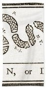 Join Or Die French And Indian War Bath Towel