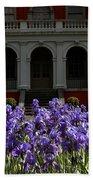 Kew Garden Irises Bath Towel