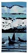 Killer Whales Bath Towel