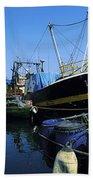 Kinsale, Co Cork, Ireland Fishing Boats Bath Towel