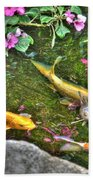 Koi Fish Poses Bath Towel
