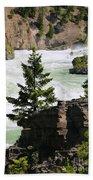 Kootenai Falls In Montana Bath Towel