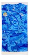 Ladies Gamefish Collage Shirt Bath Towel