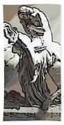 Lady Godiva Statue Bath Towel
