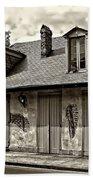 Lafittes Blacksmith Shop Bar In Sepia Bath Towel