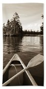 Lake Of The Woods, Ontario, Canada Boat Bath Towel