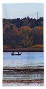 Lake Wingra Fishing Bath Towel