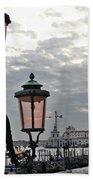 Lamp At Venice Bath Towel