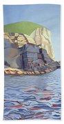 Land And Sea No I - Ramsey Island Bath Towel