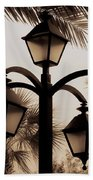 Lanterns And Fronds Bath Towel