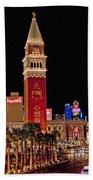 Las Vegas Canvas Panorama Bath Towel