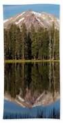 Lassen Peak Reflections Bath Towel