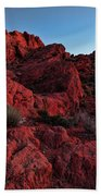 Last Light In Valley Of Fire Bath Towel