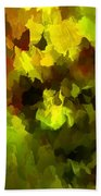 Late Summer Nature Abstract Bath Towel
