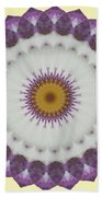 Lavender And Yellow Kaleidoscope Bath Towel