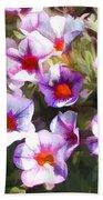 Lavender Million Bells Flowers Bath Towel