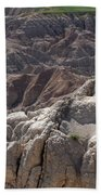 Layers Of Rock In The Badlands Bath Towel