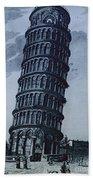 Leaning Tower Of Pisa Bath Towel
