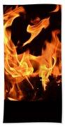 Leaping Flames Bath Towel