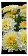 Lemon Meringue Chrysanthemums Bath Towel