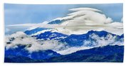Lenticular And The Chugach Mountains Hand Towel