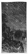 Leonid Meteor Shower, 1833 Bath Towel