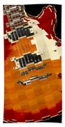 Classic Guitar Abstract Bath Towel