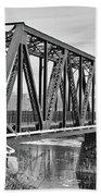 Lewiston-auburn Railroad Bridge Bath Towel