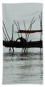 Life On Lake Tonle Sap  Bath Towel