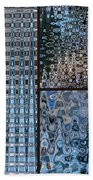 Light Blue And Brown Textural Abstract Bath Towel