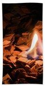 Light Of Fire Creates Coziness ... Bath Towel