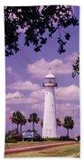 Lighthouse In Biloxi Mississippi Bath Towel