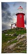 Lighthouse On Hill Bath Towel
