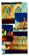 Lightshow Collage Bath Towel