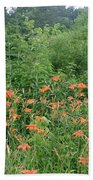 Lillies In The Valley Bath Towel