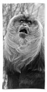 Lion Tailed Macaque Bath Towel